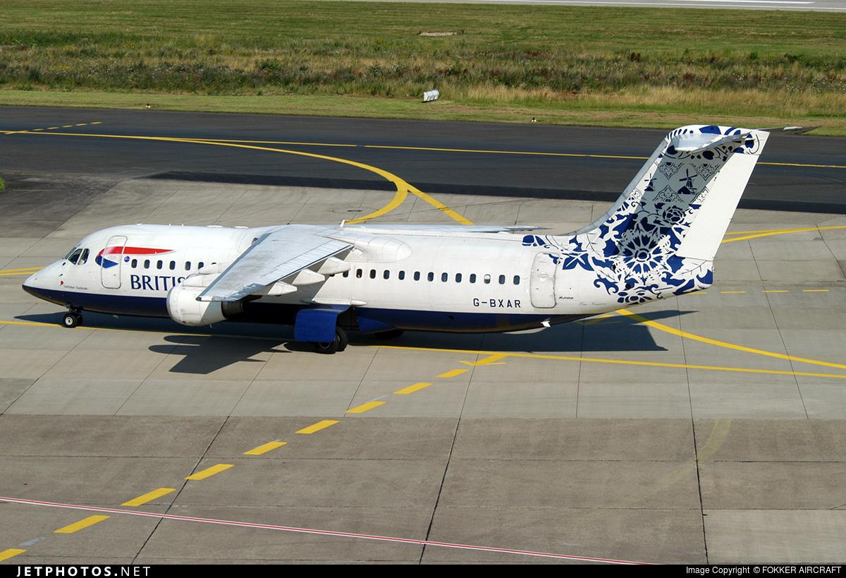 G-BXAR - British Aerospace Avro RJ100 - British Airways (CityFlyer Express)