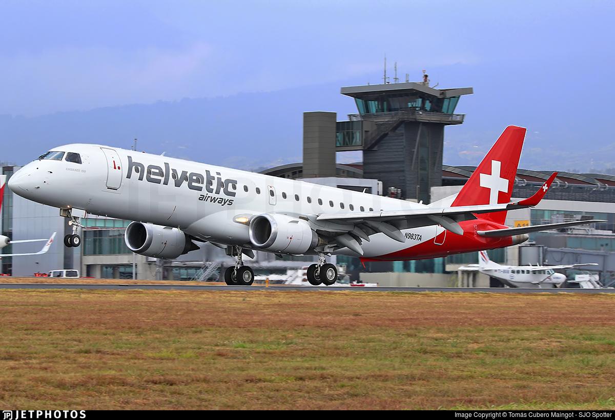 N983TA - Embraer 190-100IGW - Helvetic Airways