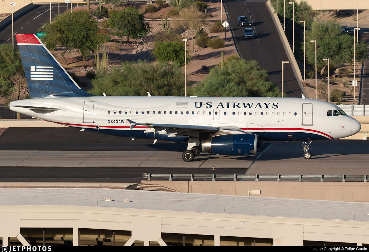 N840AW - Airbus A319-132 - US Airways