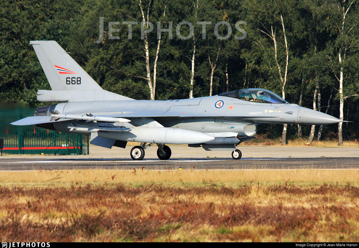 668 - General Dynamics F-16AM Fighting Falcon - Norway - Air Force