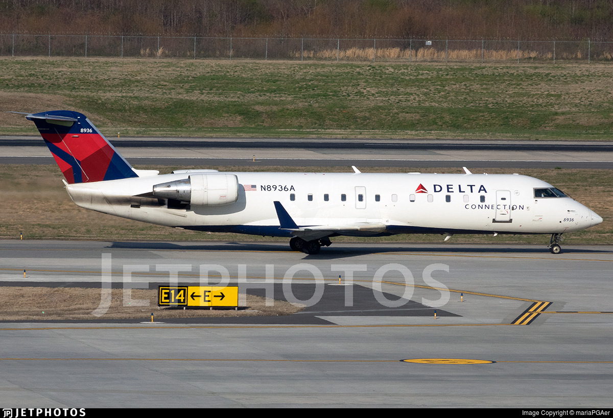 N8936A - Bombardier CRJ-200LR - Delta Connection (Pinnacle Airlines)