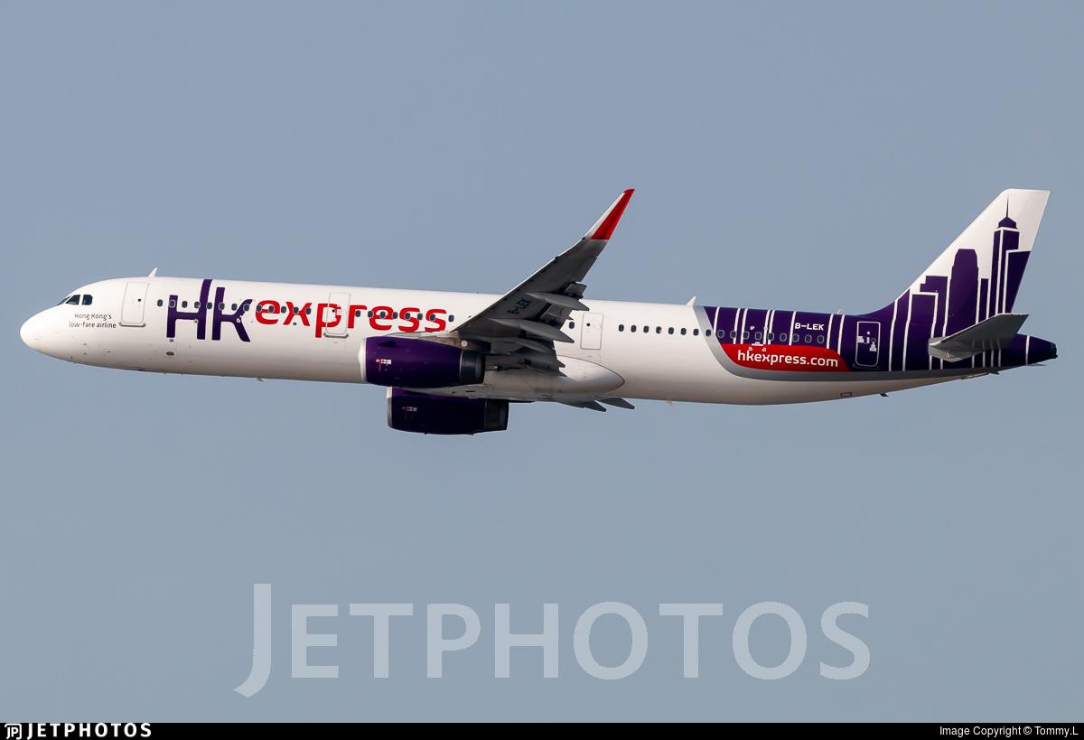 B-LEK - Airbus A321-231 - Hong Kong Express
