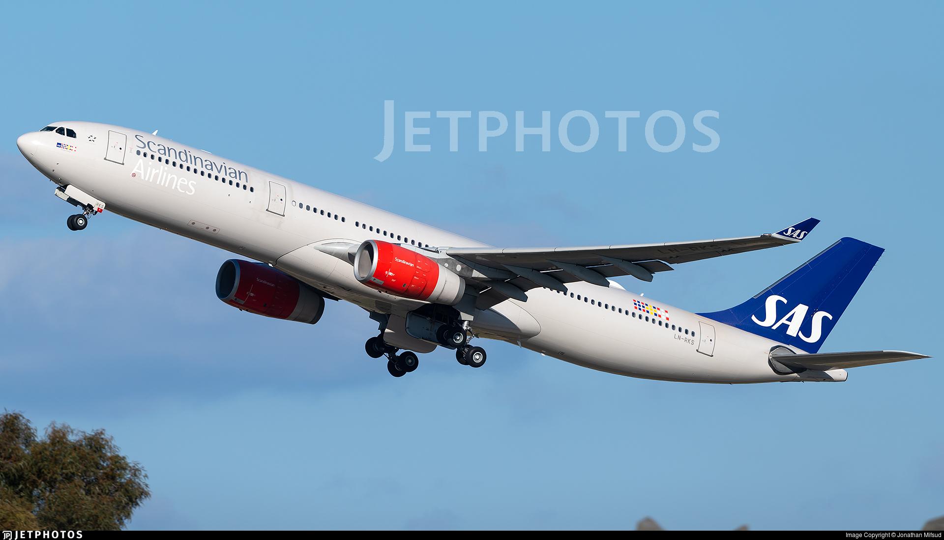 LN-RKS - Airbus A330-343 - Scandinavian Airlines (SAS)