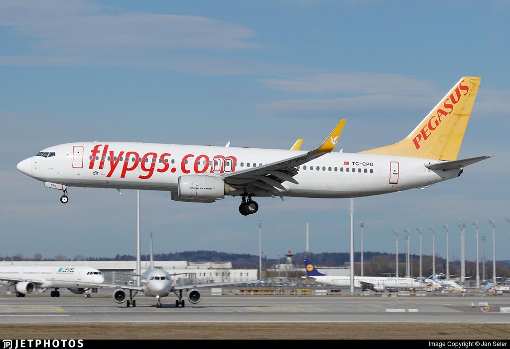 TC-CPG - Boeing 737-82R - Pegasus Airlines