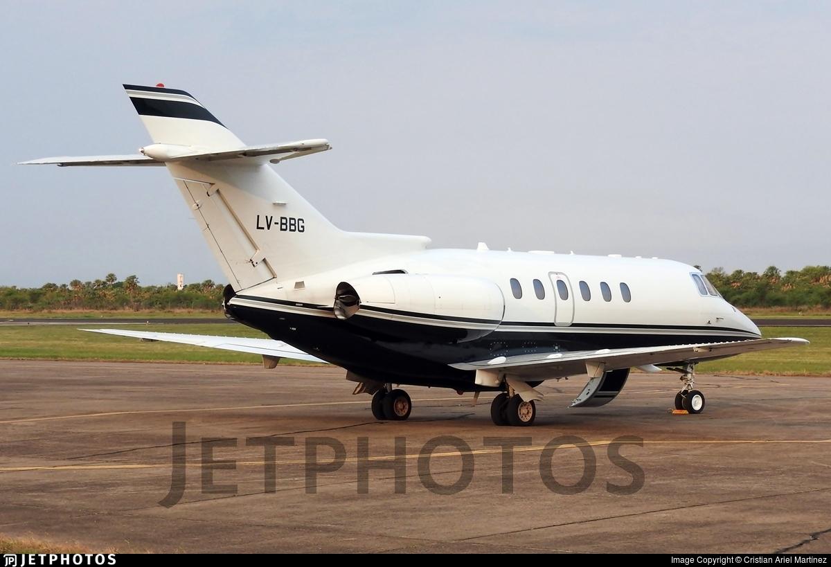 LV-BBG - Raytheon Hawker 800XP - Private