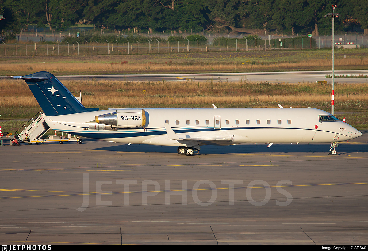 9H-VGA - Bombardier CL-600-2B19 Challenger 850 - Hyperion Aviation