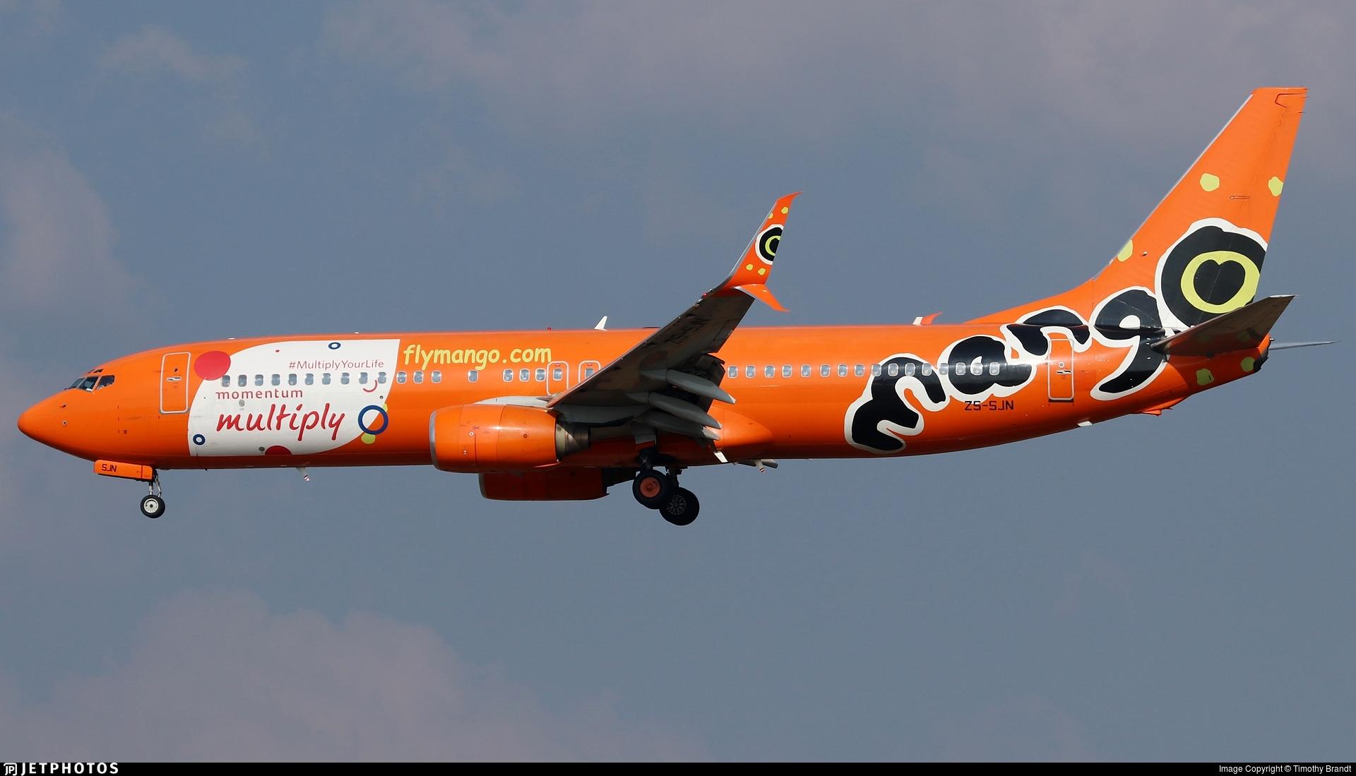 ZS-SJN - Boeing 737-85F - Mango