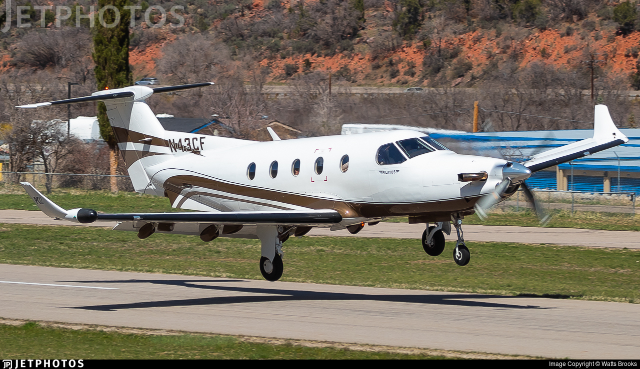 N43CF - Pilatus PC-12/45 - Private