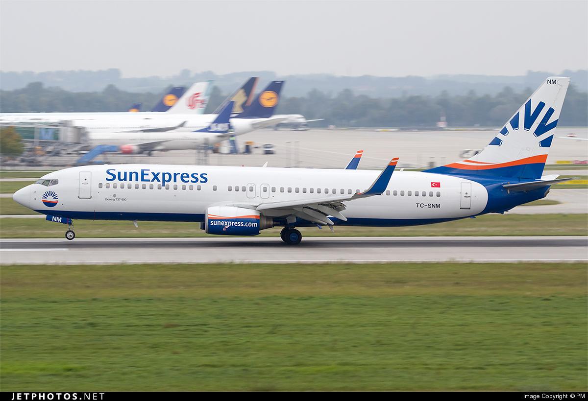 TC-SNM - Boeing 737-8BK - SunExpress