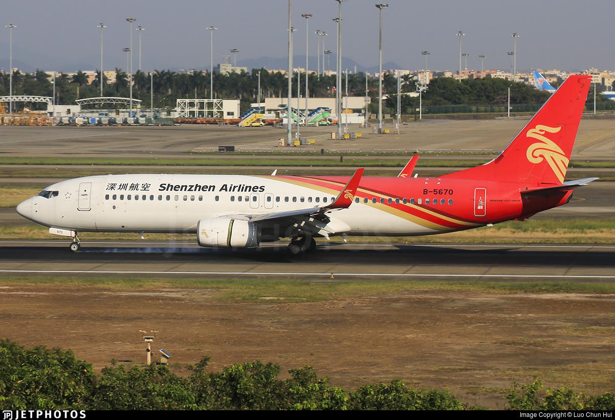 B-5670 - Boeing 737-87L - Shenzhen Airlines