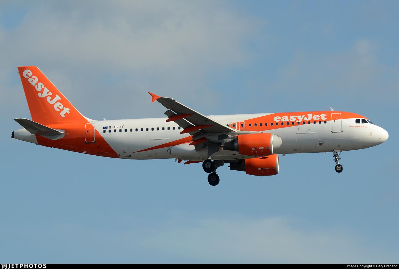 G-EZTY - Airbus A320-214 - easyJet
