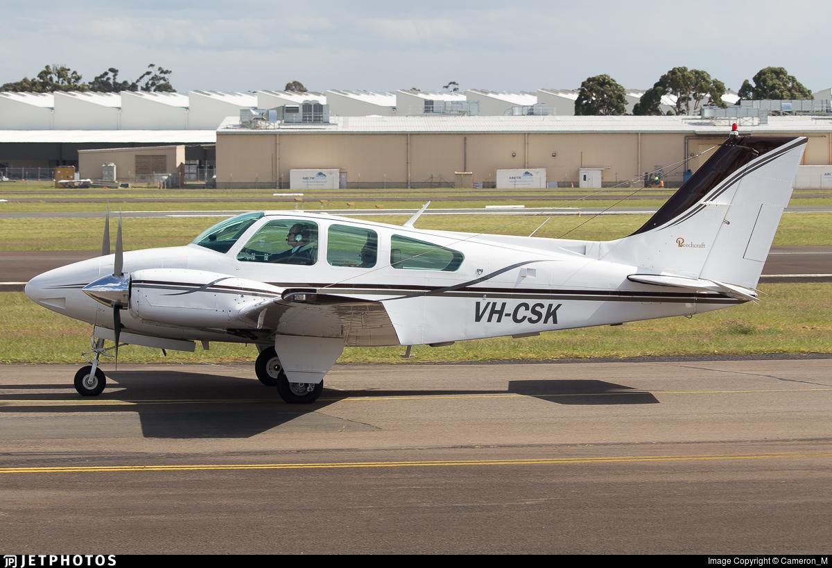 VH-CSK - Beechcraft 95-B55 Baron - Private