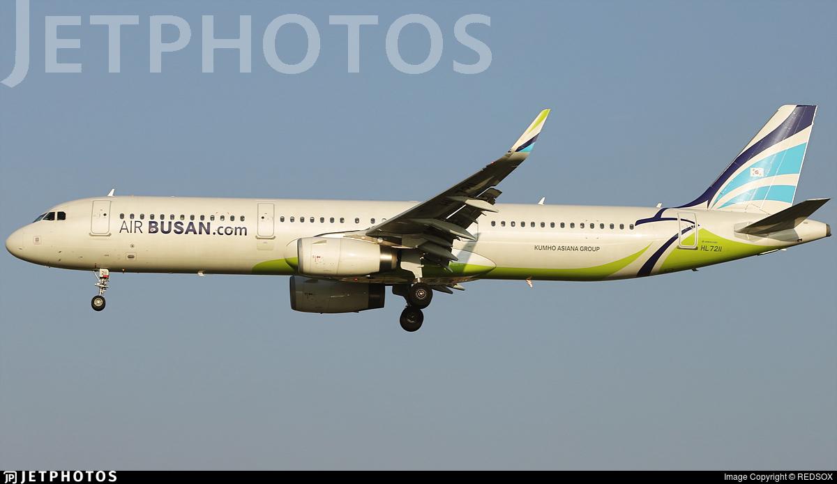 HL7211 - Airbus A321-231 - Air Busan