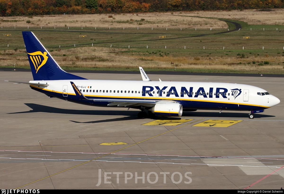 EI-GJJ - Boeing 737-8AS - Ryanair