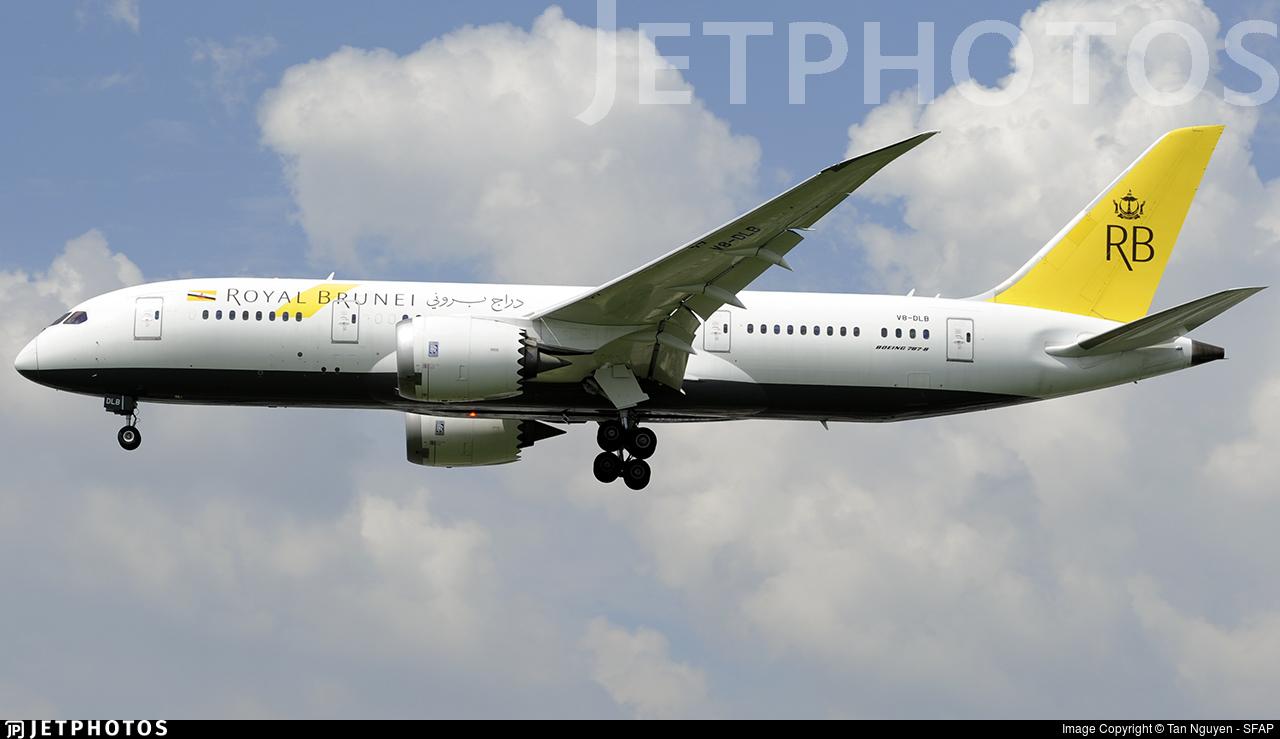 V8-DLB - Boeing 787-8 Dreamliner - Royal Brunei Airlines