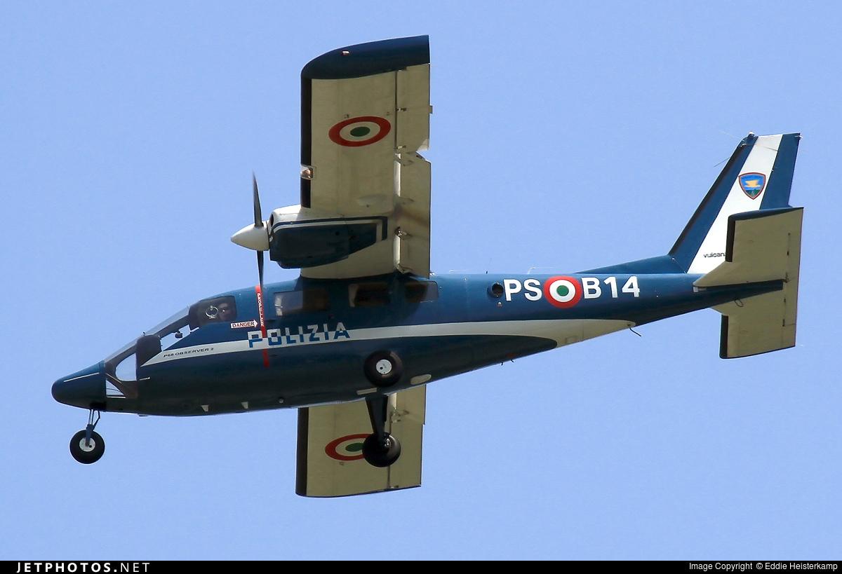 PS-B14 - Partenavia P.68 Observer 2 - Italy - Polizia di Stato