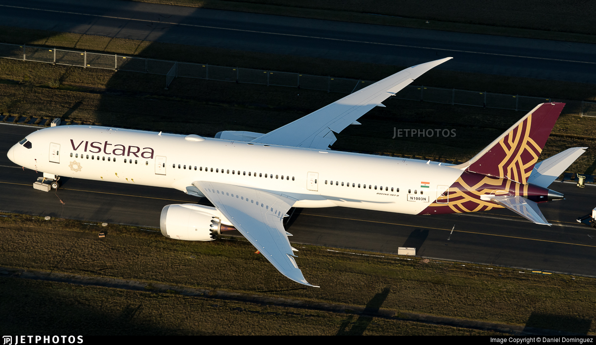 N1003N - Boeing 787-9 Dreamliner - Vistara