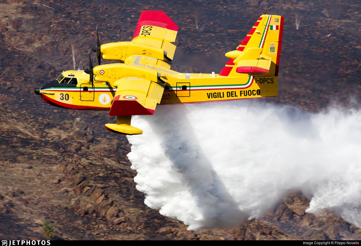 I-DPCS - Canadair CL-415 - Italy - Vigili del Fuoco
