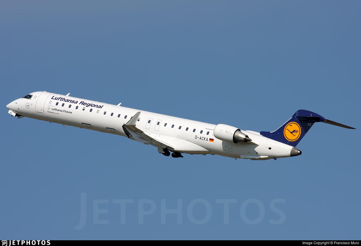 D-ACKA - Bombardier CRJ-900LR - Lufthansa Regional (CityLine)