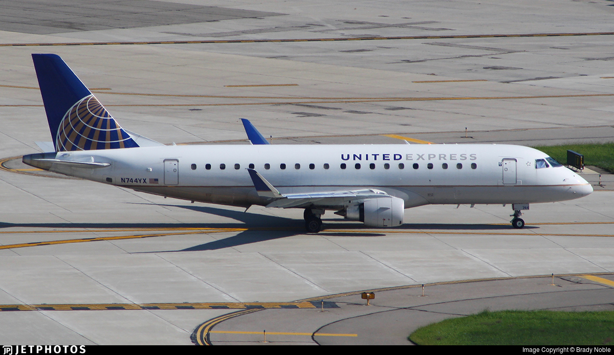 N744YX - Embraer 170-200LR - United Express (Republic Airlines)