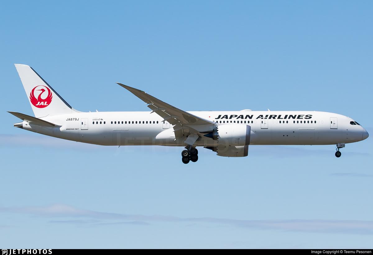 JA879J - Boeing 787-9 Dreamliner - Japan Airlines (JAL)