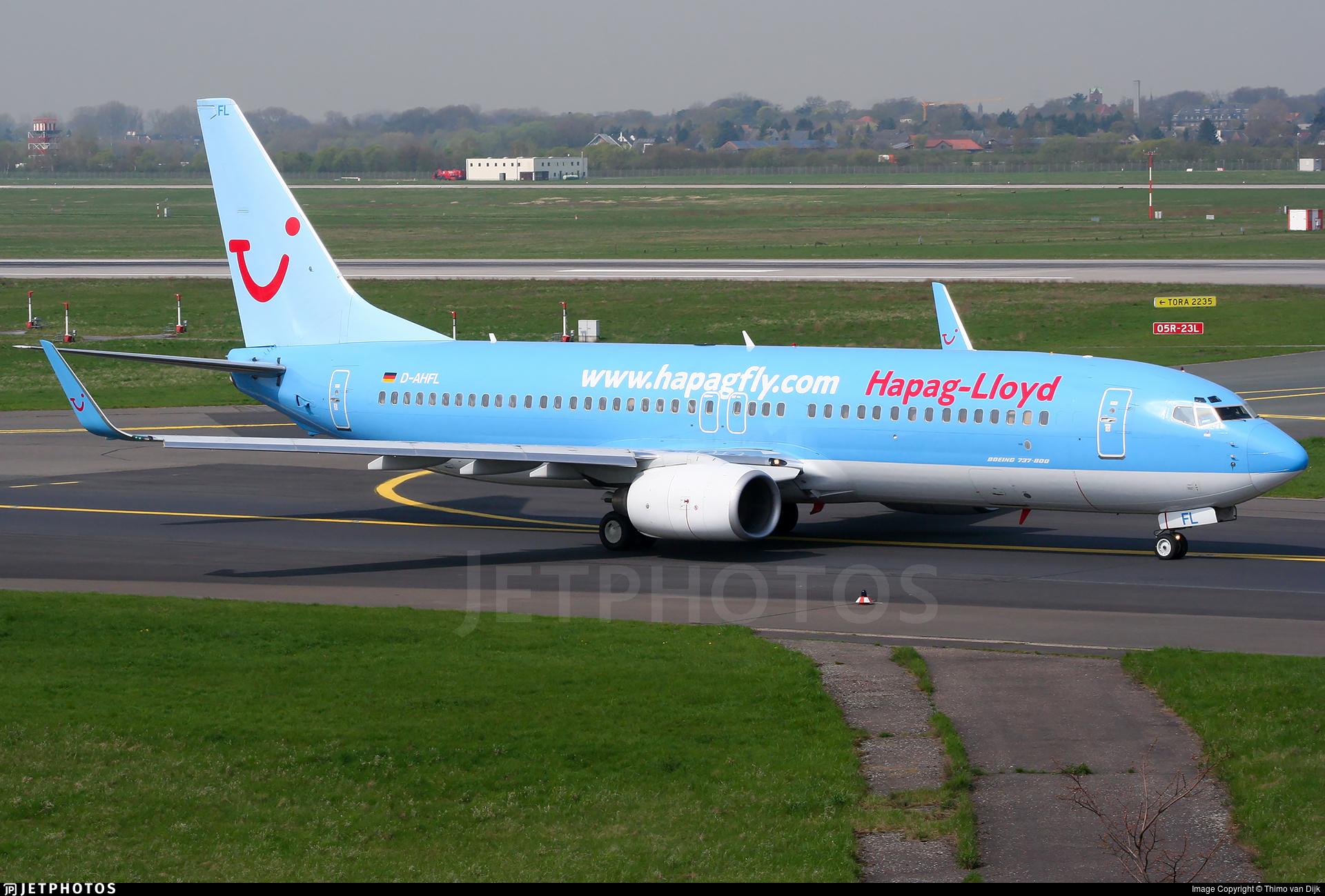 D-AHFL - Boeing 737-8K5 - Hapag-Lloyd