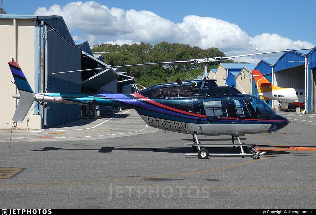 N767DV - Bell 206B JetRanger II - Private