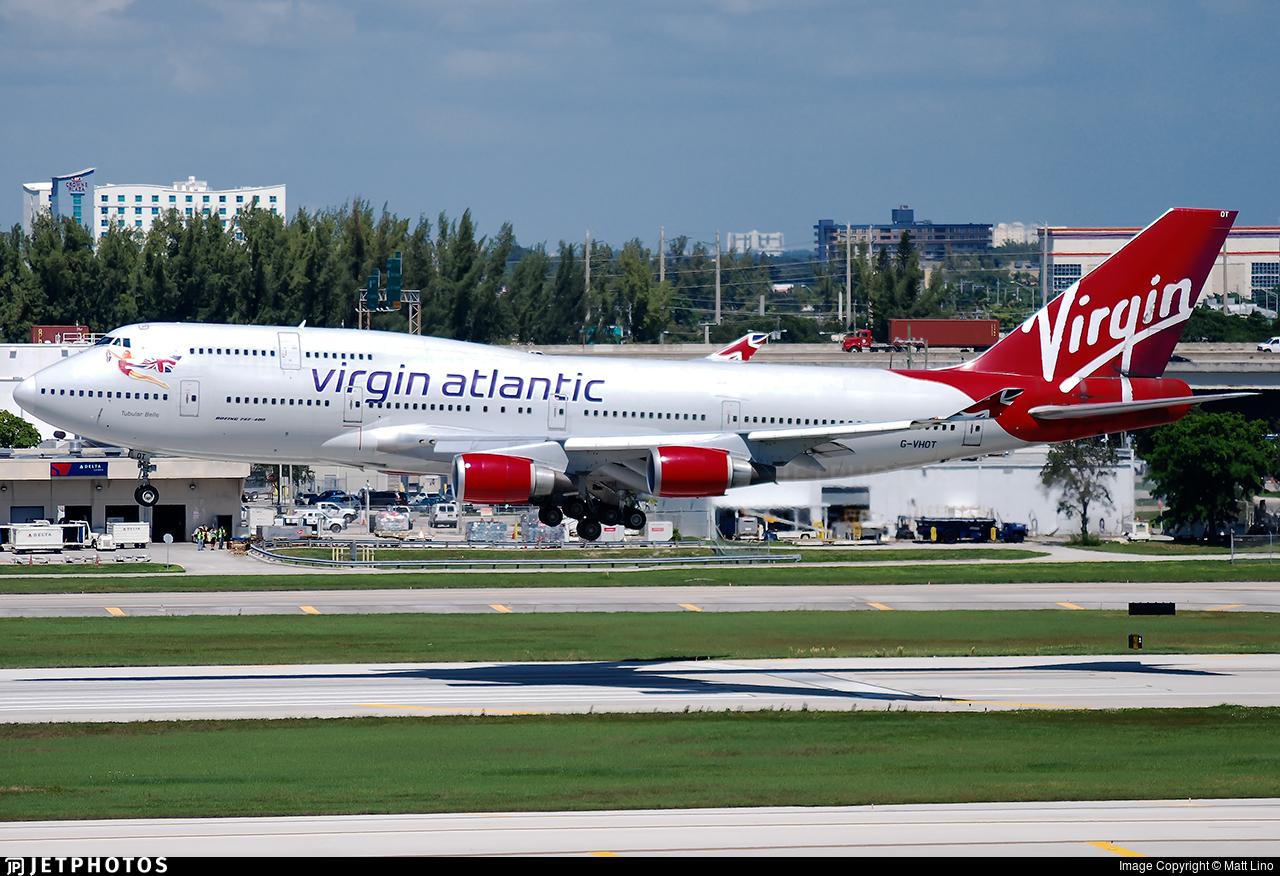 G-VHOT - Boeing 747-4Q8 - Virgin Atlantic Airways