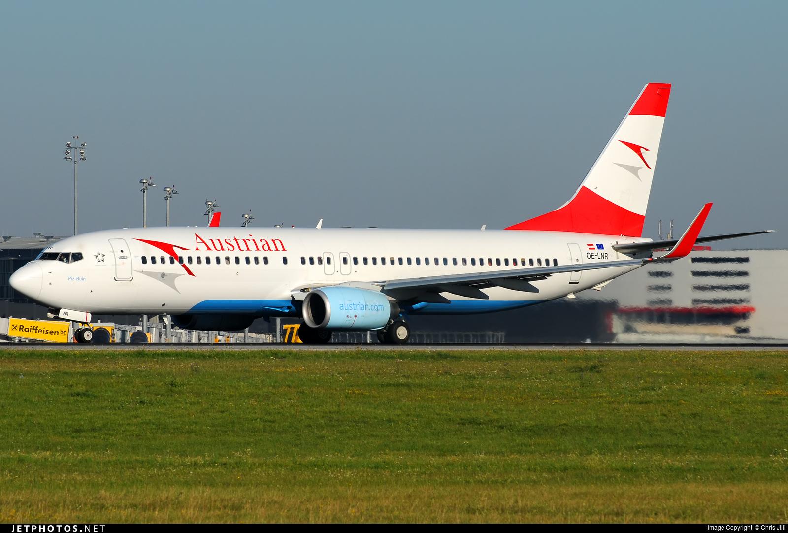 OE-LNR - Boeing 737-8Z9 - Austrian Airlines (Tyrolean Airways)