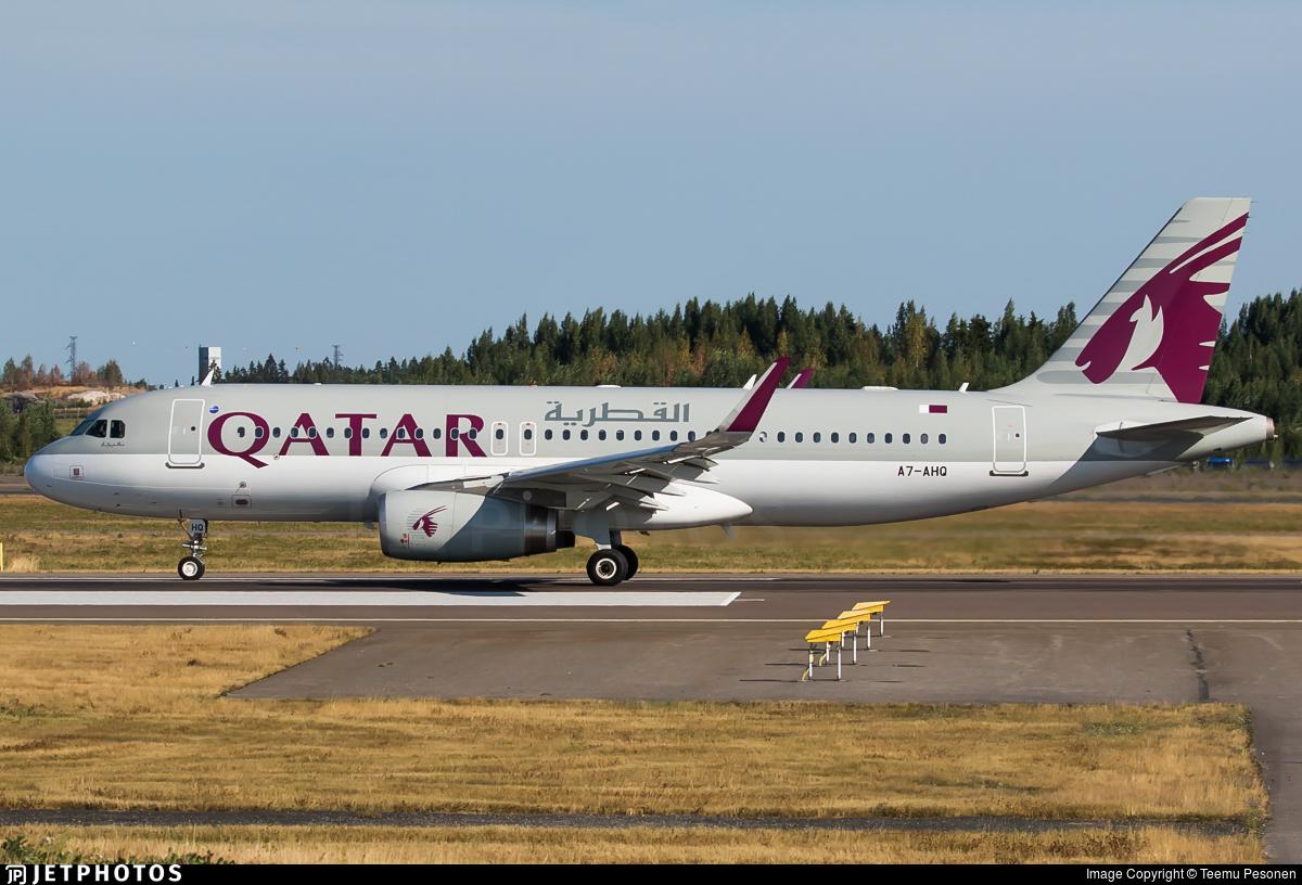 A7-AHQ - Airbus A320-232 - Qatar Airways
