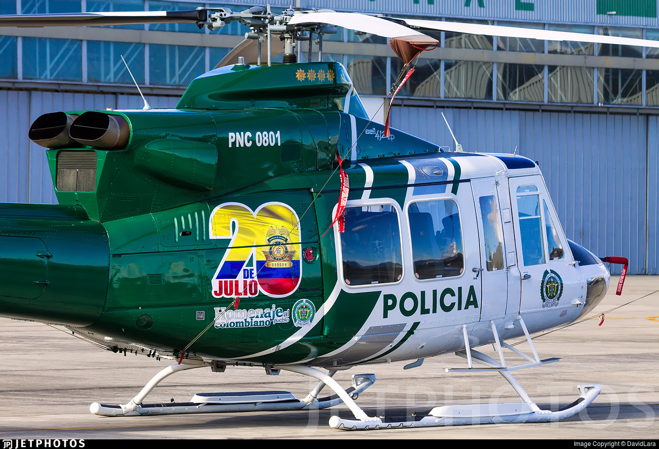 PNC-0801 - Bell 412EP - Colombia - Police