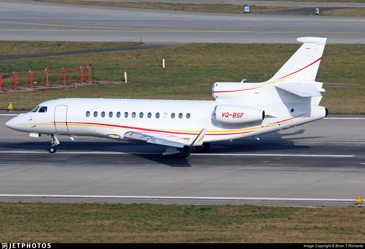 VQ-BSF - Dassault Falcon 7X - Shell Aircraft