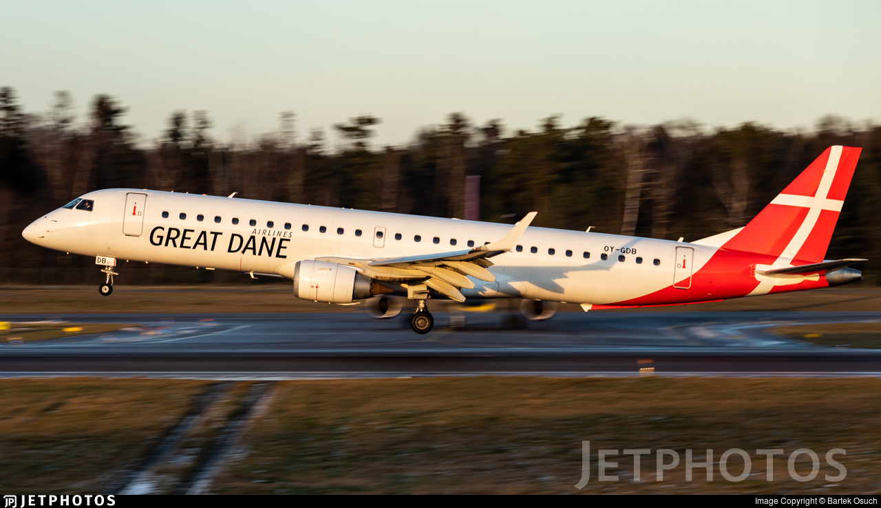 OY-GDB - Embraer 190-200LR - Great Dane Airlines