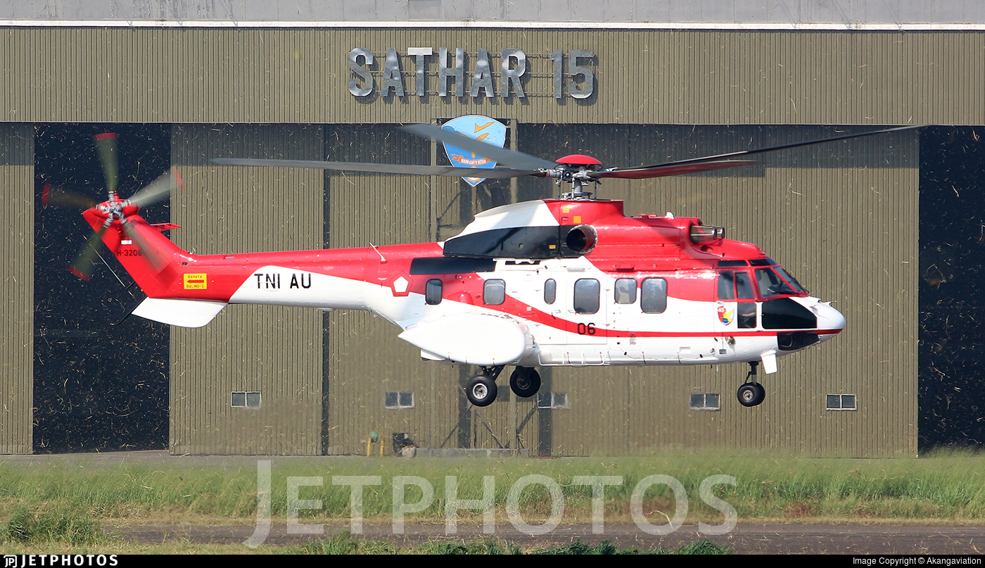 H-3206 - Aerospatiale AS-332L1 Super Puma - Indonesia - Air Force