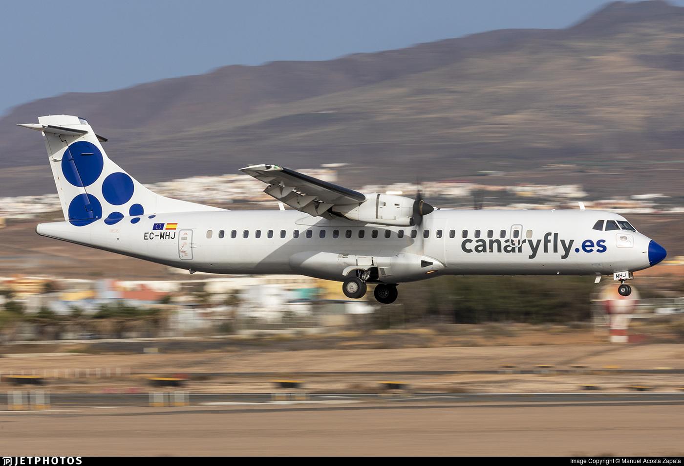 EC-MHJ - ATR 72-212A(500) - Canaryfly