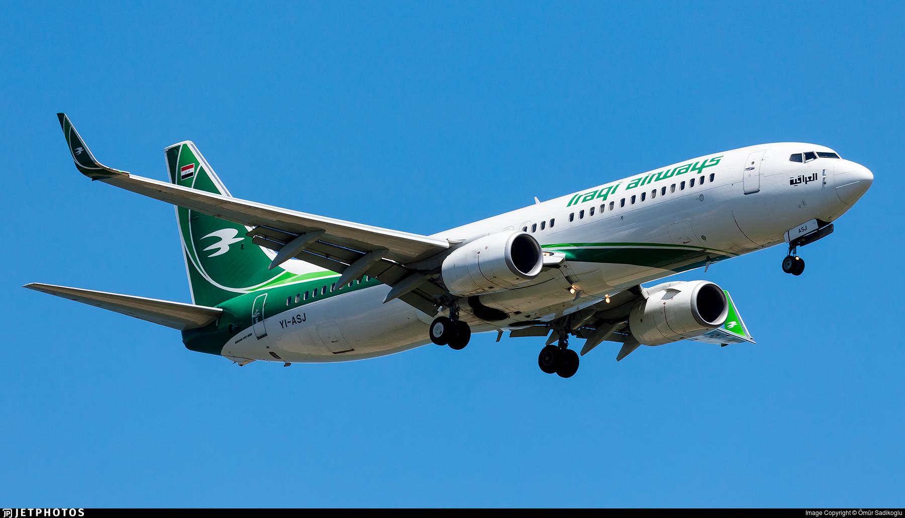YI-ASJ - Boeing 737-81Z - Iraqi Airways