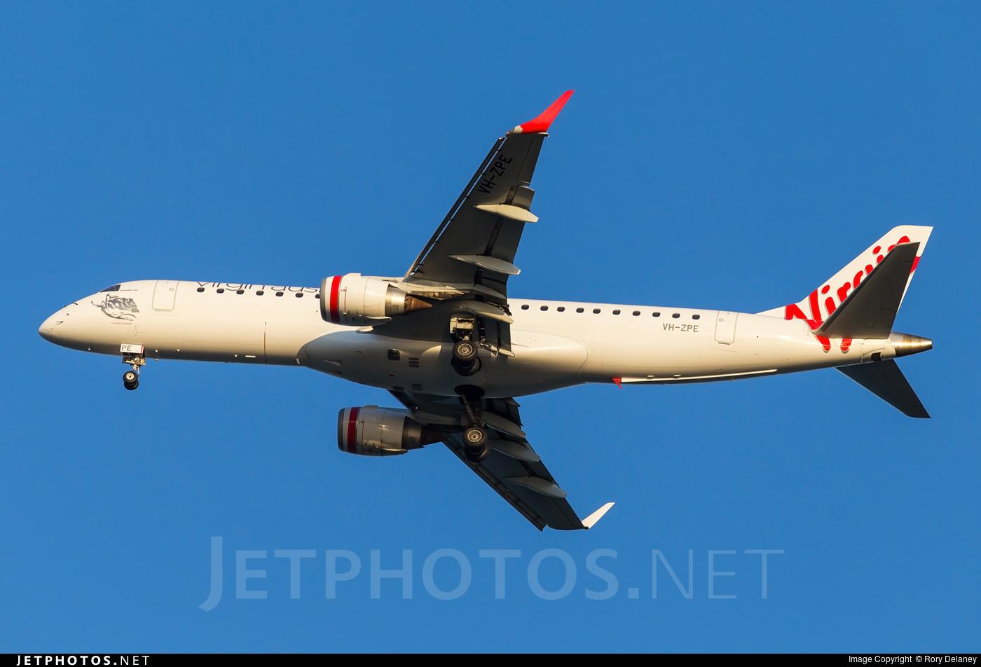 VH-ZPE - Embraer 190-100IGW - Virgin Australia Airlines
