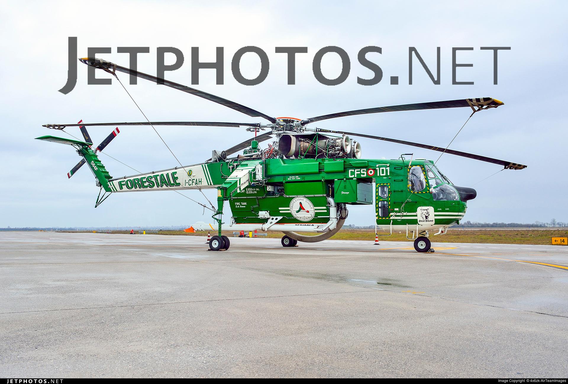 I-CFAH - Sikorsky S-64F Skycrane - Italy - Forestale