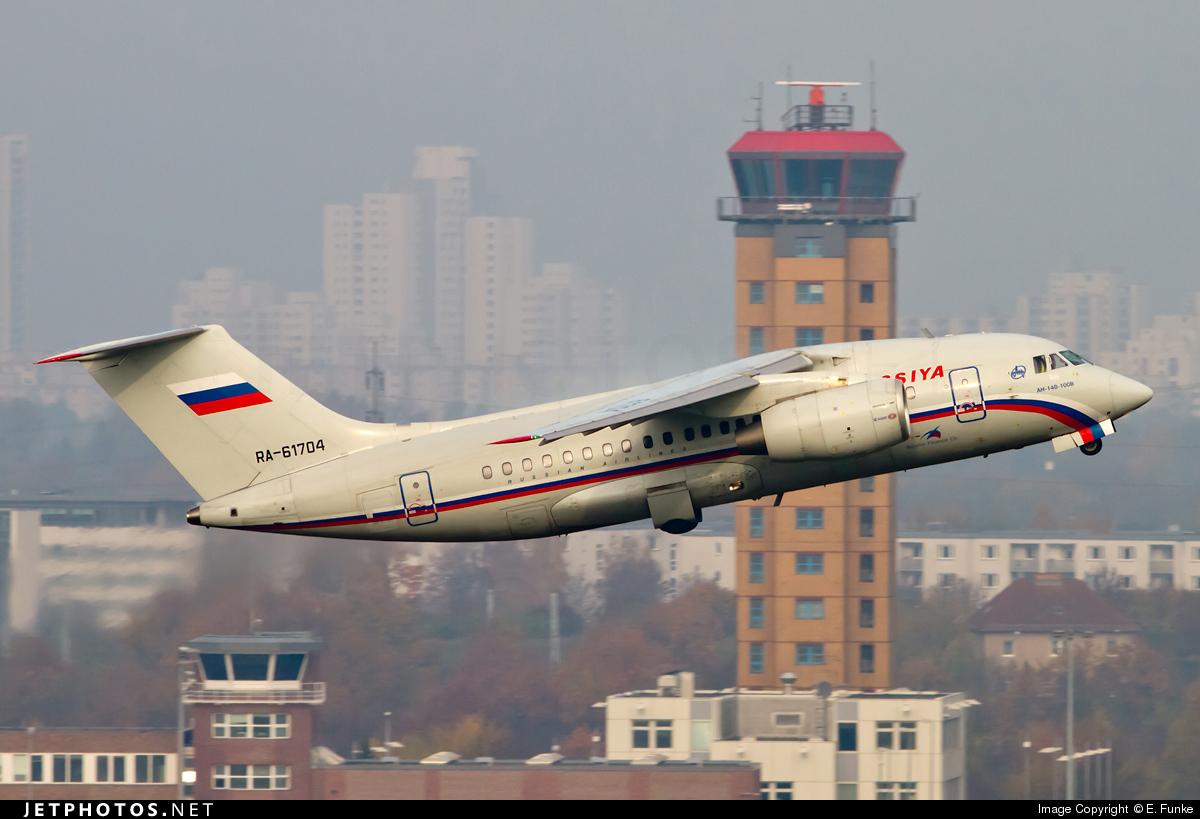 Ra 61704 Antonov An 148 100b Rossiya Airlines E