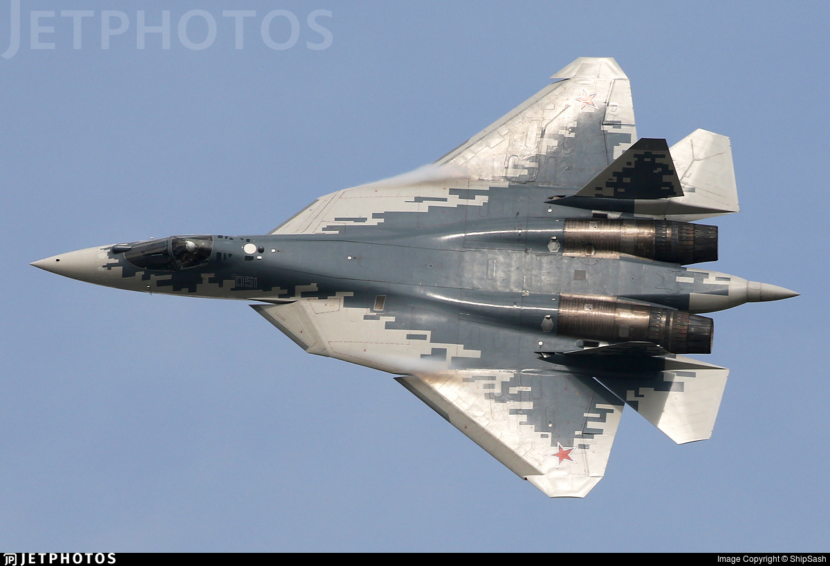 051 - Sukhoi T-50 - Russia - Air Force