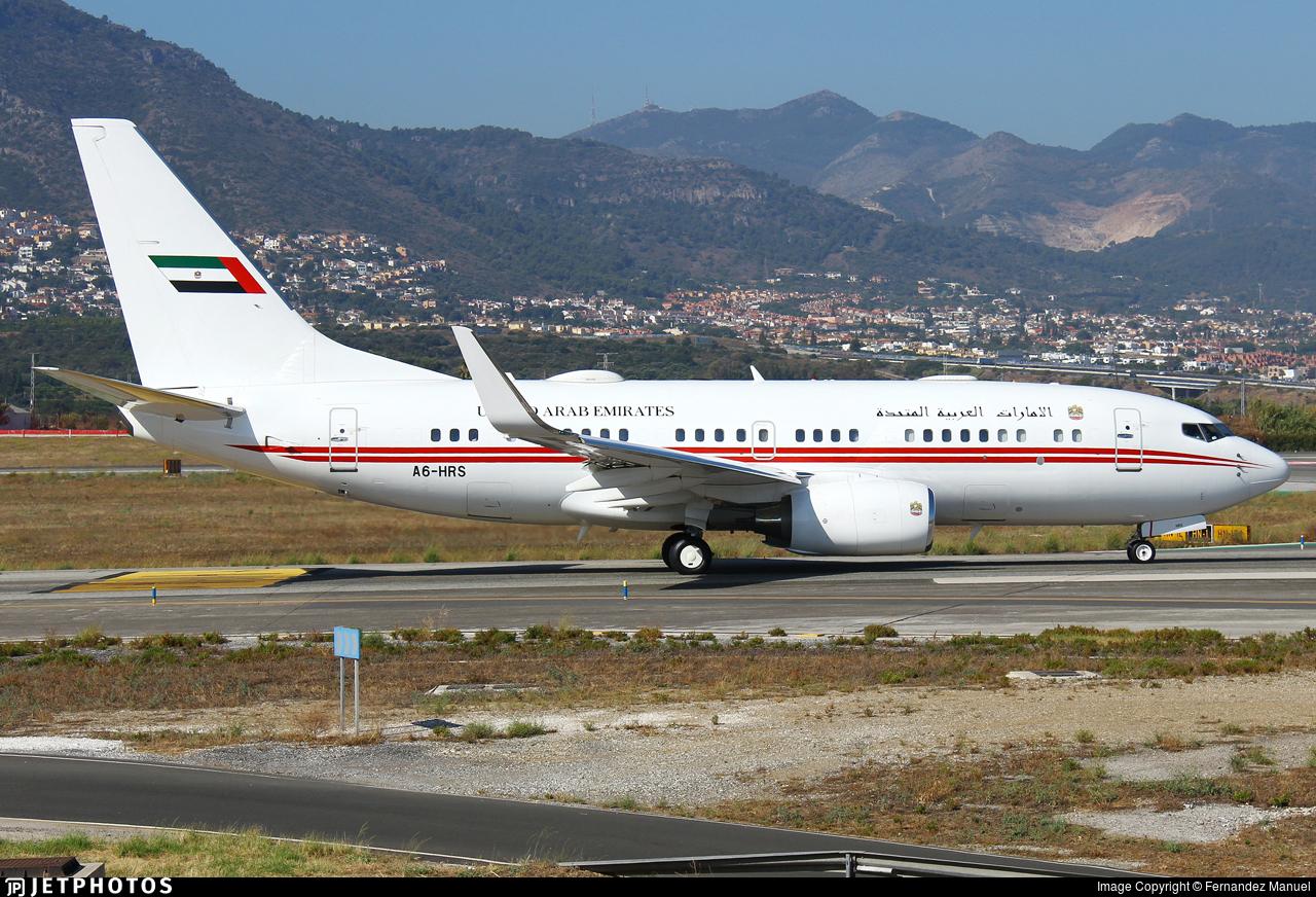A6-HRS - Boeing 737-7E0(BBJ) - United Arab Emirates - Dubai Air Wing