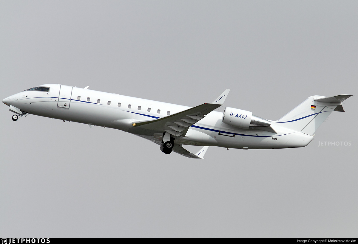 D-AAIJ - Bombardier CL-600-2B19 Challenger 850 - Jet Air Flug
