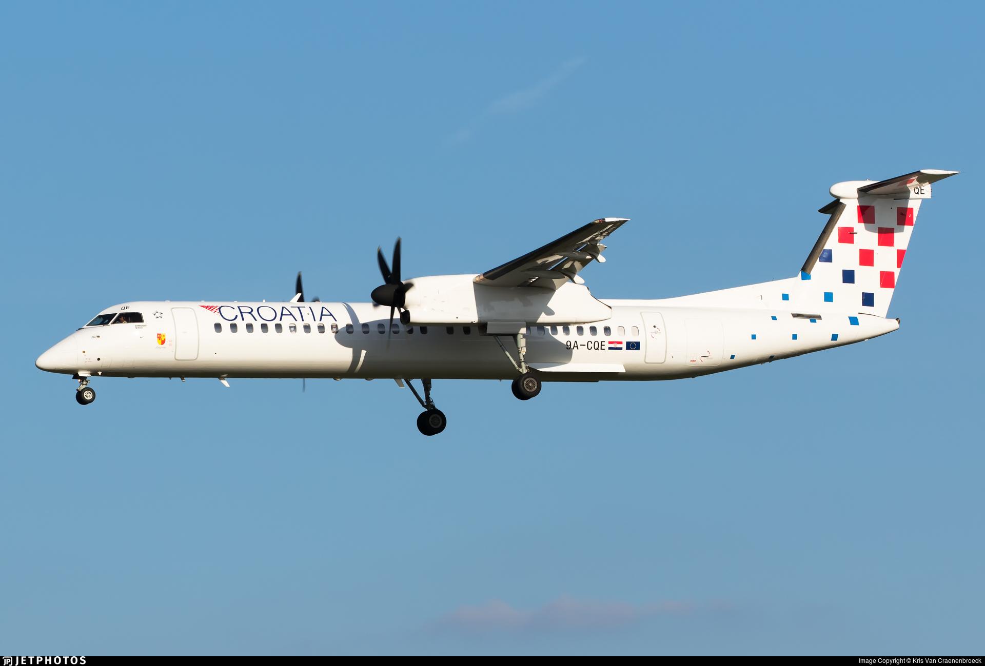 9A-CQE - Bombardier Dash 8-Q402 - Croatia Airlines