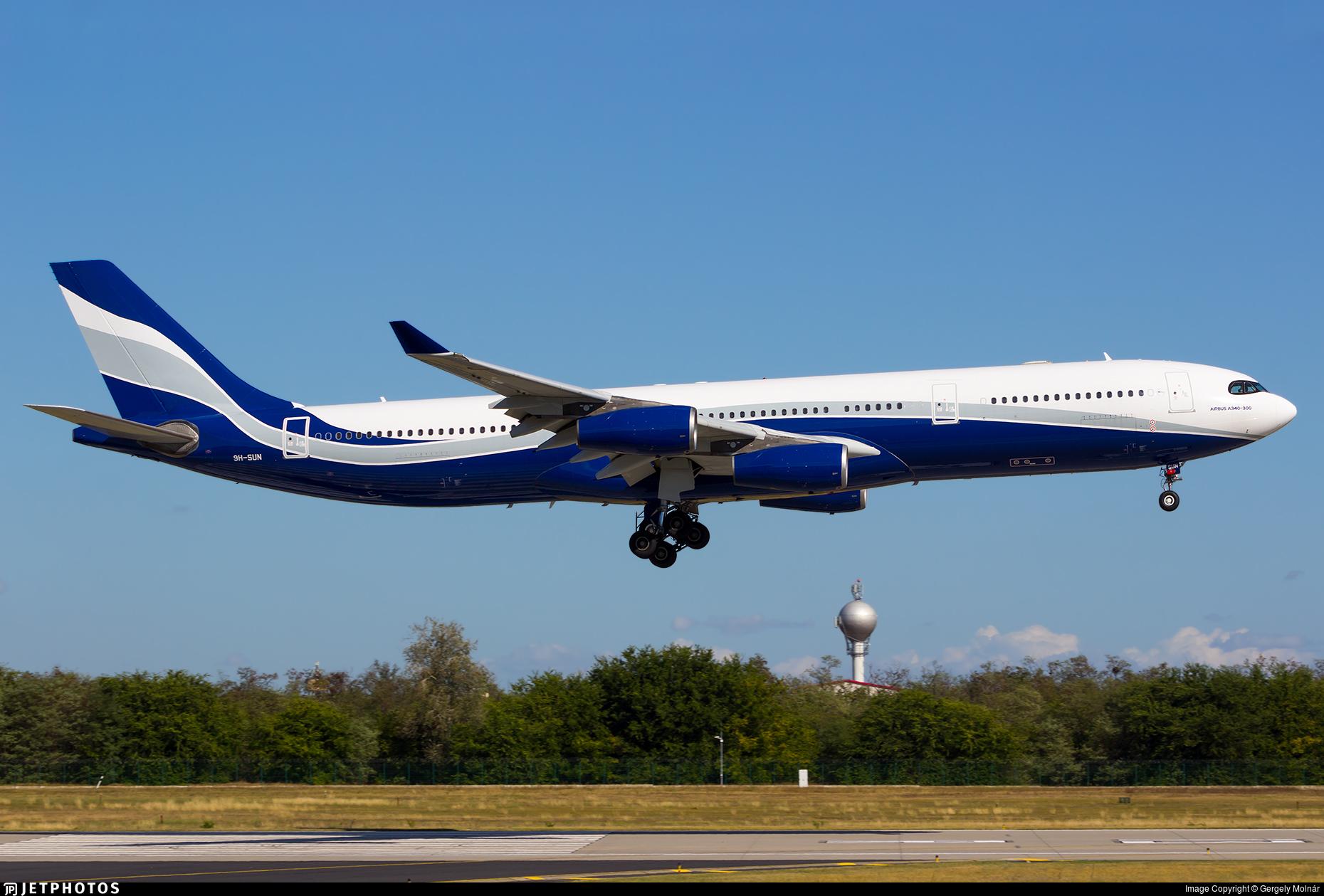 9H-SUN - Airbus A340-313X - Hifly Malta