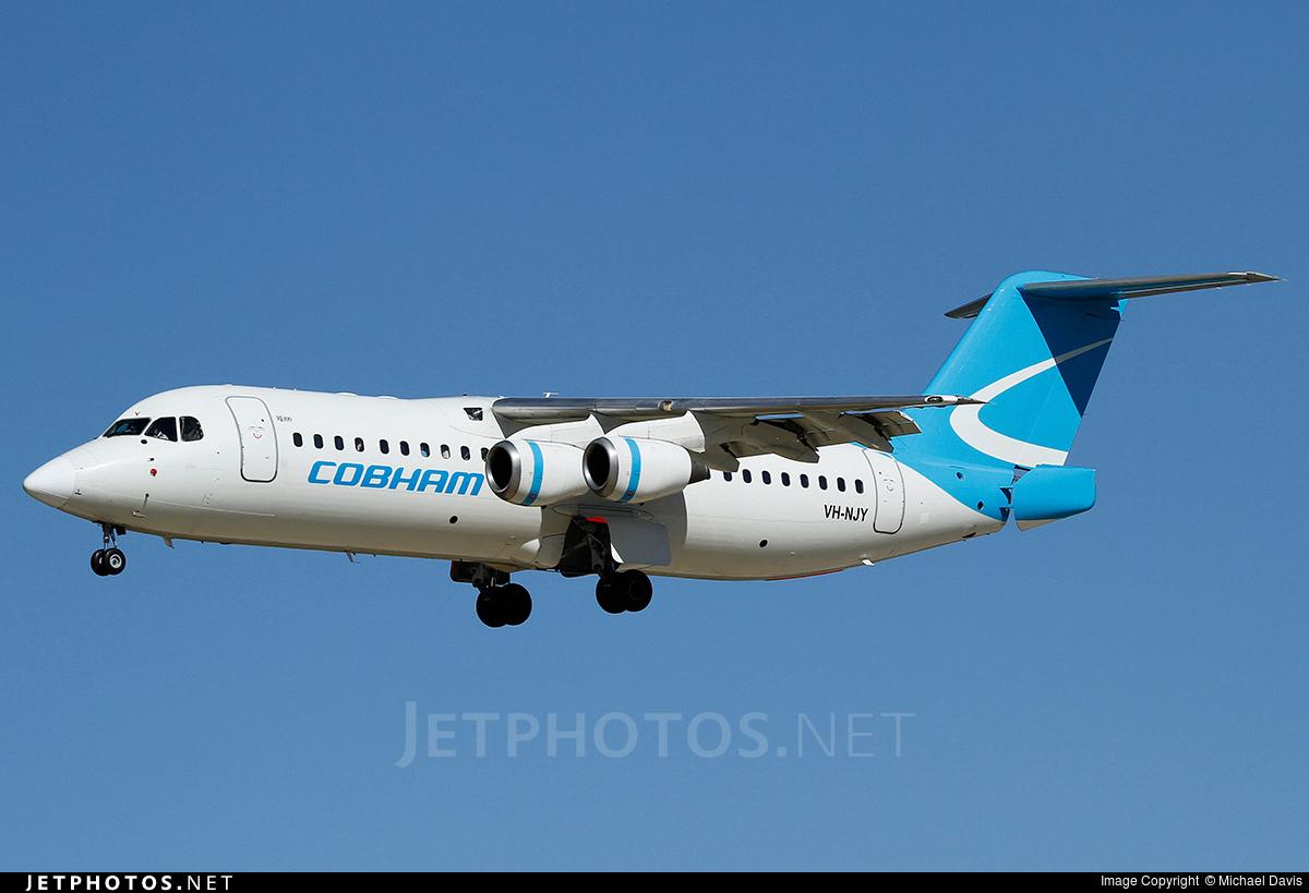 VH-NJY - British Aerospace Avro RJ100 - Cobham Aviation Services Australia
