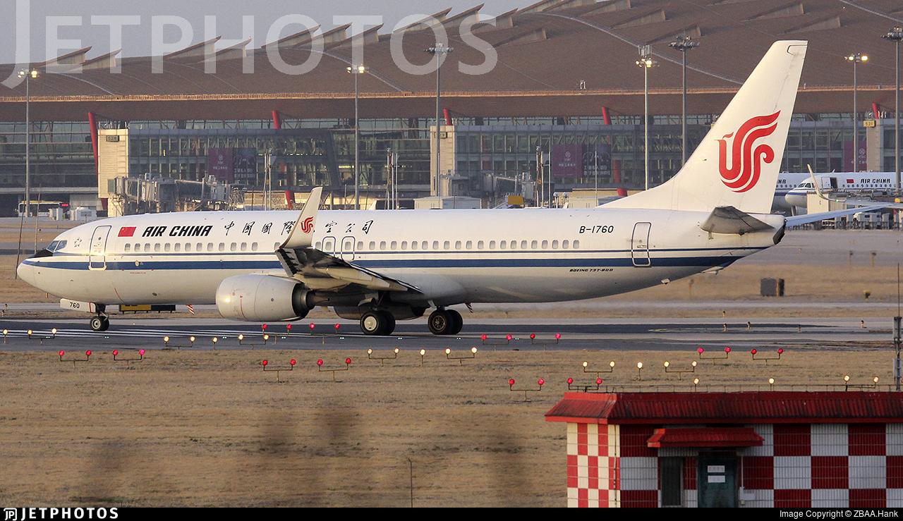 B-1760 - Boeing 737-89L - Air China