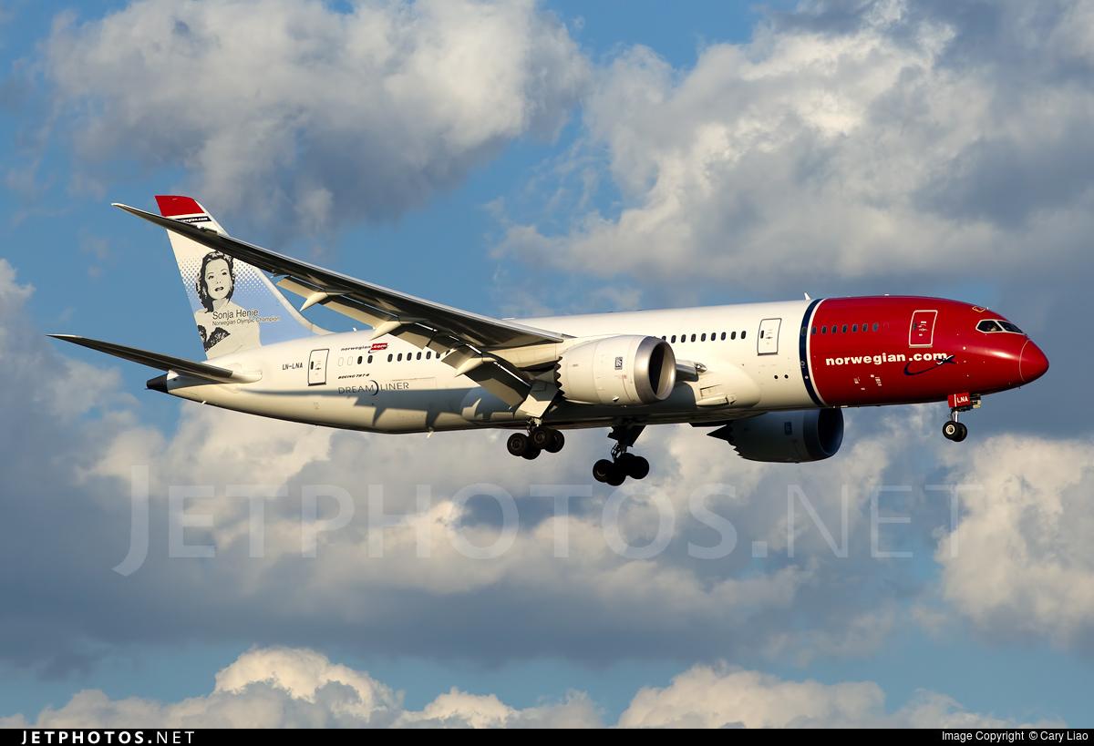 LN-LNA - Boeing 787-8 Dreamliner - Norwegian