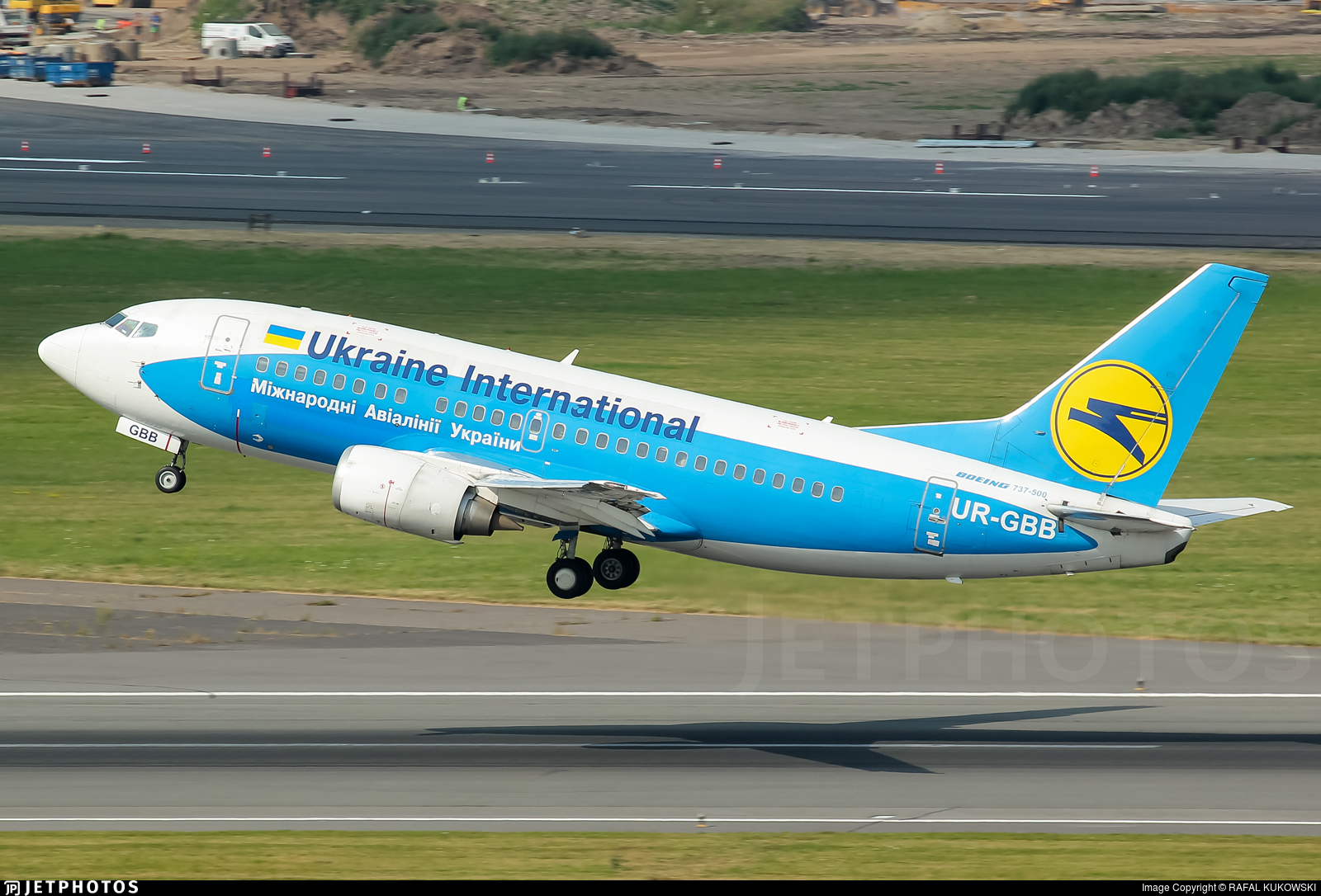 UR-GBB - Boeing 737-5L9 - Ukraine International Airlines