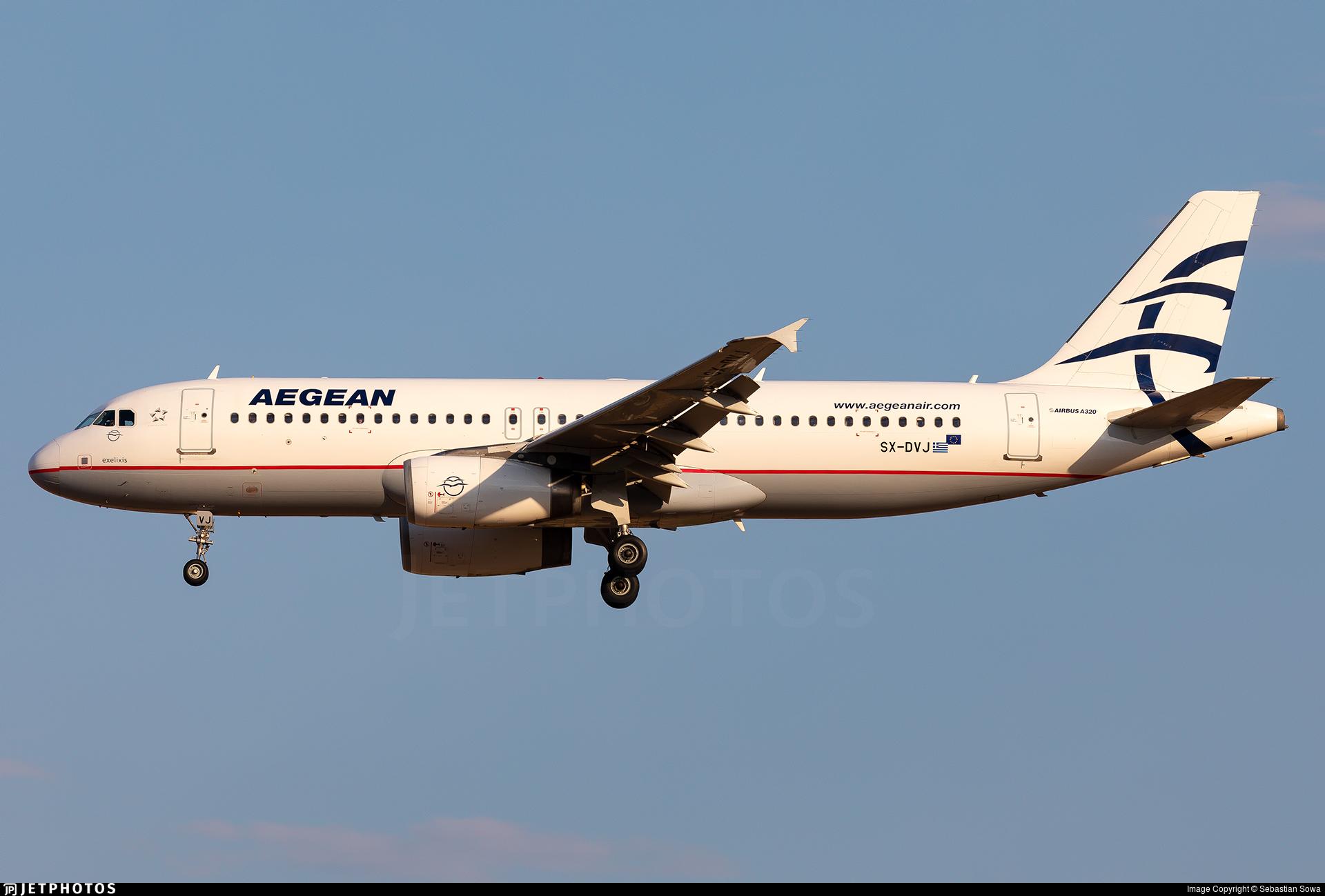SX-DVJ - Airbus A320-232 - Aegean Airlines