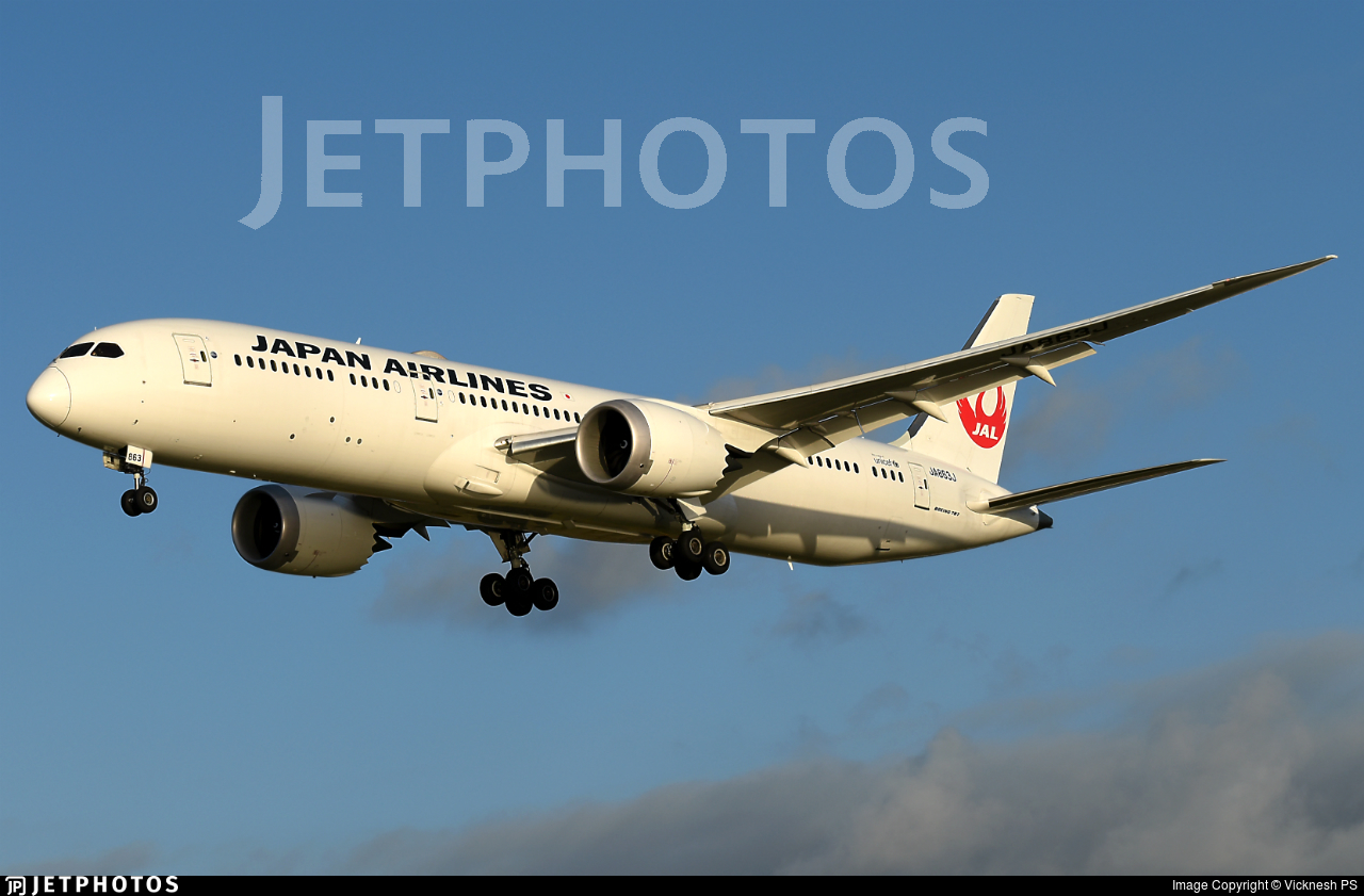 JA863J - Boeing 787-9 Dreamliner - Japan Airlines (JAL)